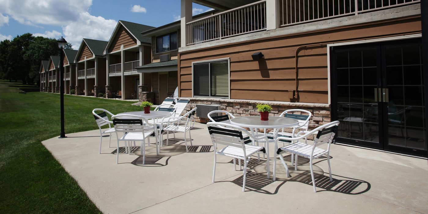 Outside Patio Seating at AmericInn of Okoboji