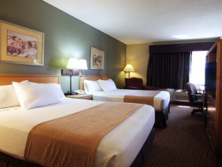Double Queen Room at Ramada of Spirit Lake